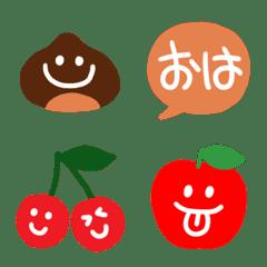 かわいい栗・林檎・葡萄・チェリー♥️