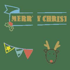 クリスマス絵文字[ボールペン調]