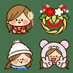 かわいい主婦の1日【お正月】絵文字