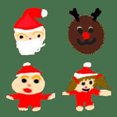 花の絵文字~クリスマス