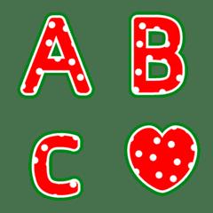 snowy winter- letter emoji