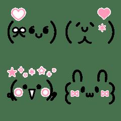 かわいい♡SNS風顔文字パック♡