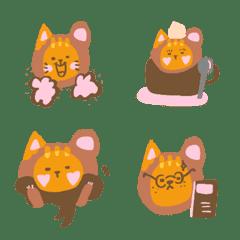 ベアオレンジ色の猫の宝