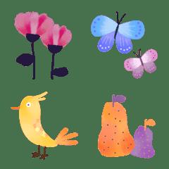 北欧の植物と動物の絵文字