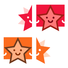 Twinkling colored stars