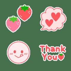 いちごとピンクの絵文字♡