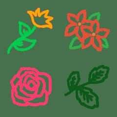 オトナ可愛い♥️線画 花&植物