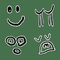 へたっぴに見える変顔の絵文字