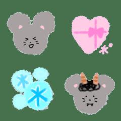 ふんわりネズちゃん 冬の絵文字