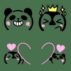 パンダとペンギンの顔文字風・絵文字3
