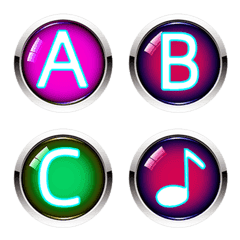 Colorful Buttons letter emoji-letters
