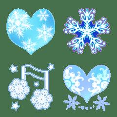 ハート・キラキラ・音符 (雪の結晶)