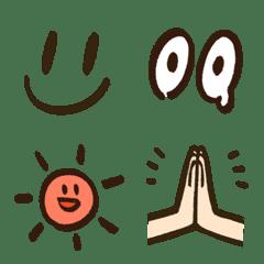 手描き風【シンプルな顔の絵文字】