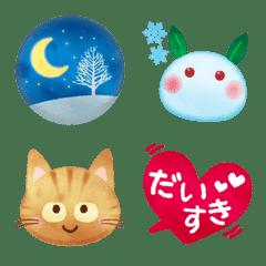 水彩えほん【冬編】絵文字