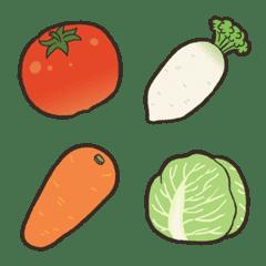 かびえもじ<野菜編>
