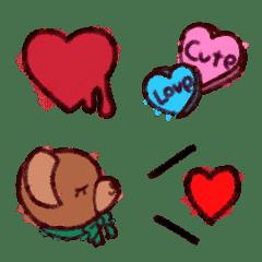 Valentine、ハート、クレヨン調、かわいい