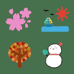 1年中使える春夏秋冬の絵文字