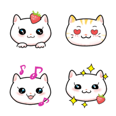 「いちごと猫」の絵文字