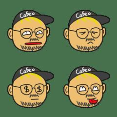 金髪ひげメガネの絵文字