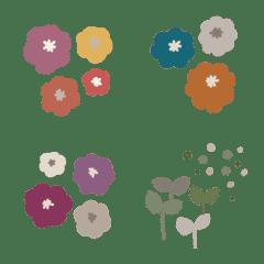 くすみカラーのオシャレお花