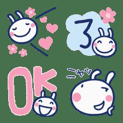 日常シンプル☆ほぼ白うさぎ絵文字