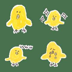 ものすごく黄色いヒヨコ(絵文字)
