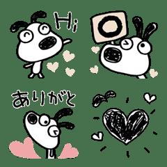 犬のバウピー♡ハート絵文字