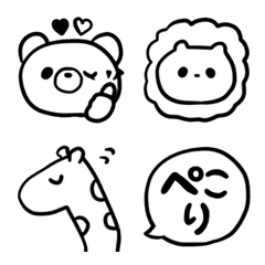 シンプル線画ZOO★毎日使える!