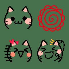 大人の❤色鉛筆のゆるかわ猫SNSステキ絵文字