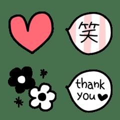 モノトーン&カラフル絵文字