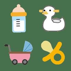 ママと赤ちゃんのベビー用品絵文字