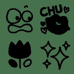 みんな❤が使える超シンプル絵文字単色