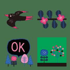 木と花と猫と鳥