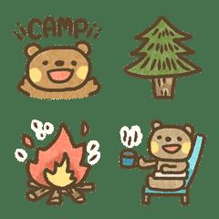 クマのキャンプ絵文字!!