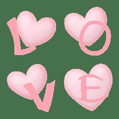 ピンクのハート の ラブレター 絵文字