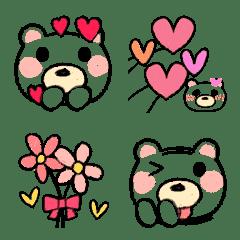 色鉛筆❤ゆるかわ熊クマ100%絵文字