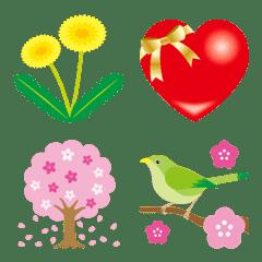 春を伝える絵文字