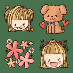 女の子 カラフル日常 絵文字