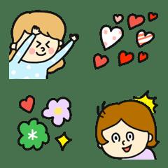 ハートいっぱい♡pocaママ絵文字