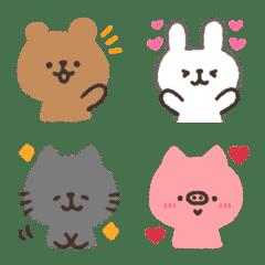 手書き動物☆絵文字