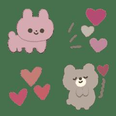 くすみカラーのラブリー動物たち♡