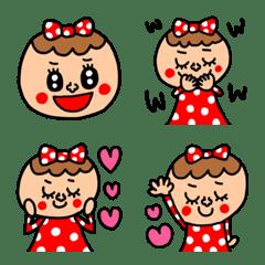 riekimの赤ドットの女の子