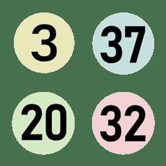 かわいい丸い色番号(1-40)