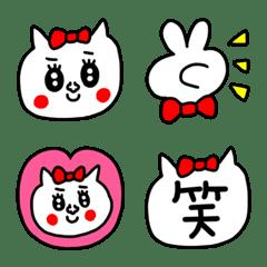 riekimの赤リボン猫絵文字