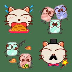 猫と毛糸ちゃん絵文字