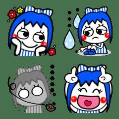 青い髪の女の子派手かわ絵文字