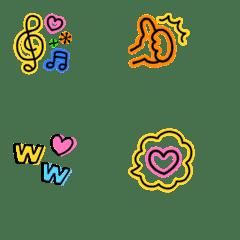 プチサイズが可愛い♡ネオン絵文字