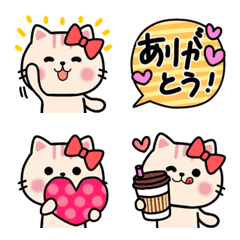 おしゃれ猫❤面白いゆる可愛ネクニャ絵文字