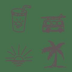 シンプルなハワイ絵文字
