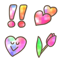 チェック柄が可愛い♥️日常絵文字